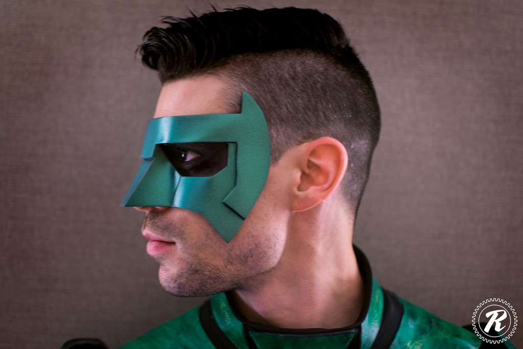 Dynamite Webber with Tiger Stone FX Green Lantern mask - Photo by Reid Cosplay Photography