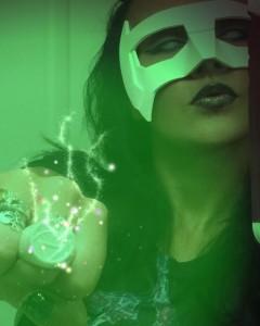 Soni Aralynn with Tiger Stone FX White Lantern Kyle Rayner mask