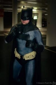 Tattooed Deviant Cosplay with Tiger Stone FX Dark Knight Returns Batman cowl