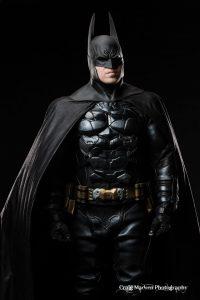 Twin Cities Batman with Tiger Stone FX Arkham Asylum cowl - photo by Craig Madsen