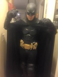 Tyler Brouillard with Tiger Stone FX Batman Arkham Asylum City Batman cowl