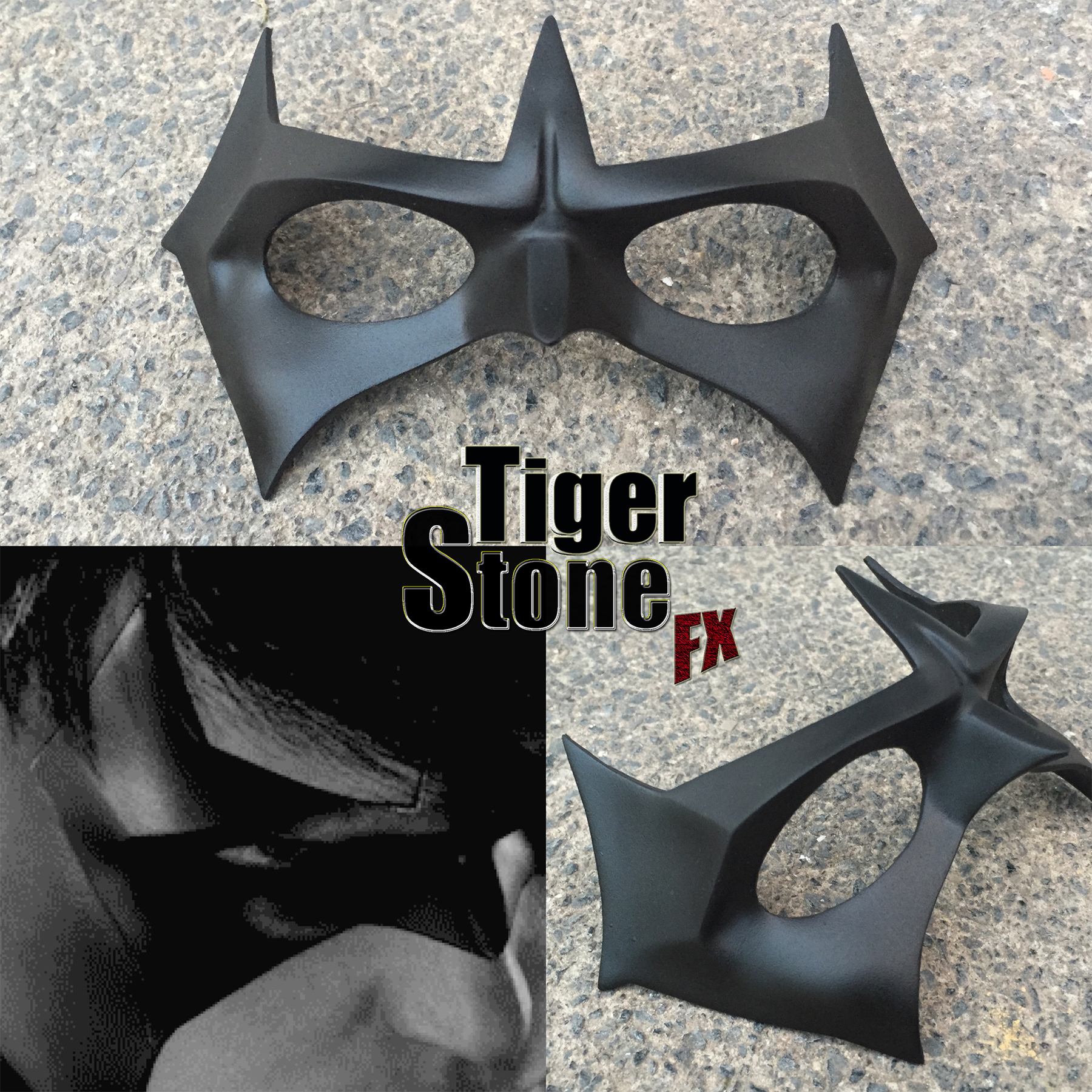 arkham knight nightwing mask by tiger stone fx tiger. Black Bedroom Furniture Sets. Home Design Ideas