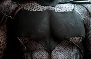 Batman v Superman chest emblem by Tiger Stone FX photo by Gotham Shadows