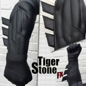 Tiger Stone FX Batman v Superman Dawn Of Justice gauntlets and wraps in black