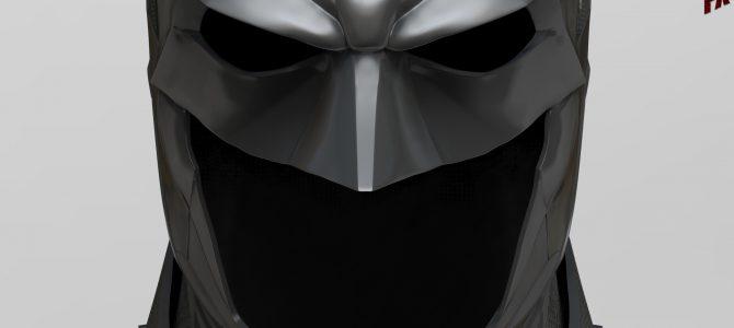 Finished Batman Arkham Knight cowl sculpt