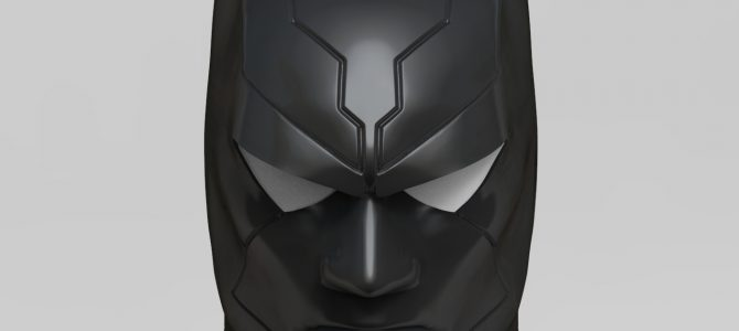 Custom design Batman Beyond inspired cowl sculpt