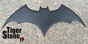 Metallic Black Custom Batman Begins chest emblem by Tiger Stone FX