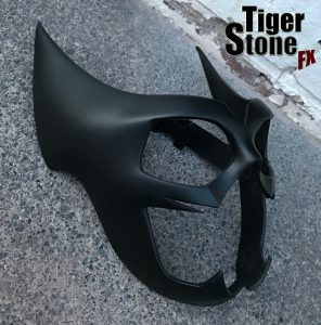 Black Huntress mask - by Tiger Stone FX