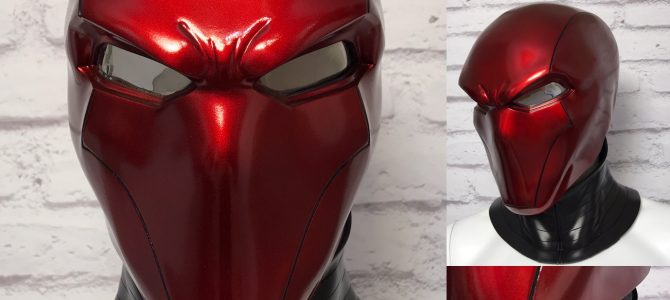 NEW – Red Hood helmet and neck piece