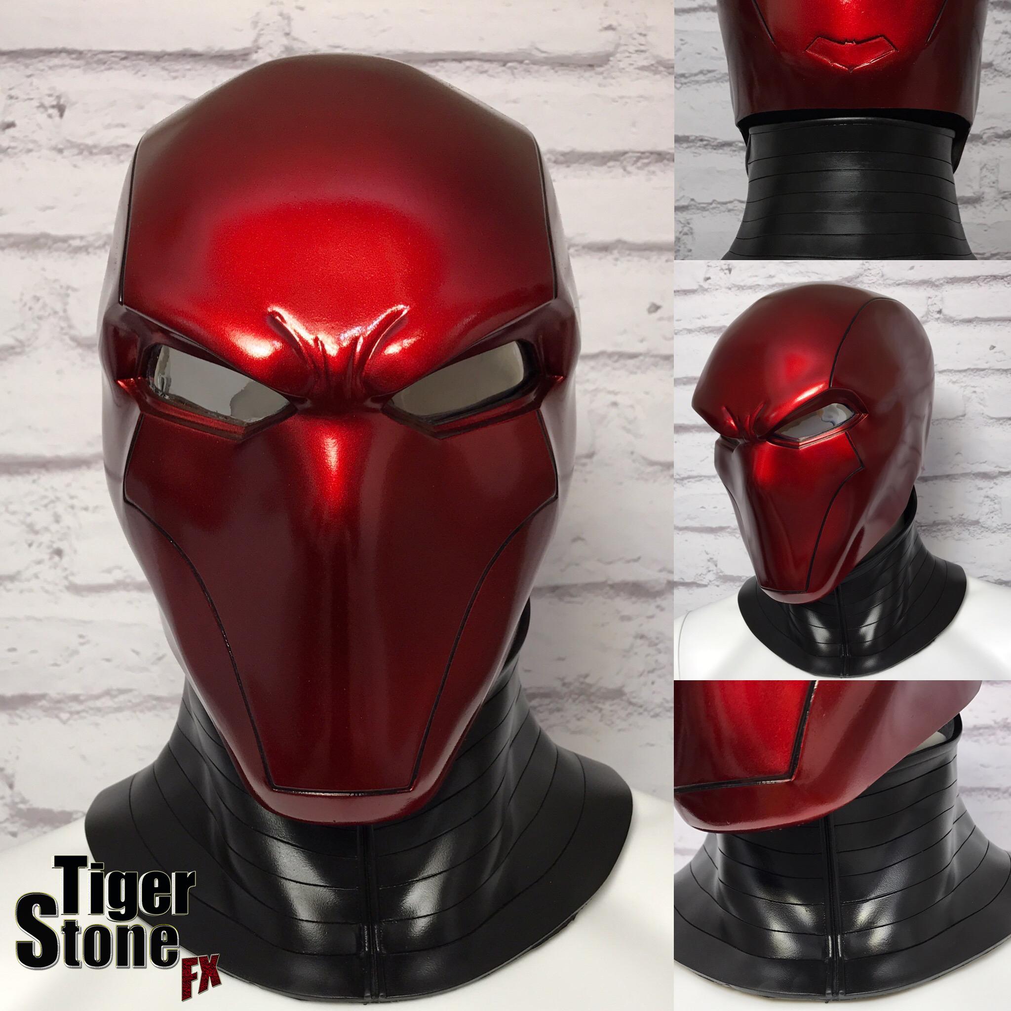 Red hood helmet