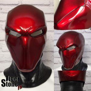 Red Hood helmet in Deep Metallic Red by Tiger Stone FX