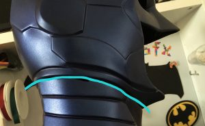 Where to cut the Tiger Stone FX New 52 Batman cowl