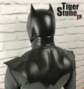 Batman Noel inspired cowl : mask, neck and chest piece by Tiger Stone FX - back