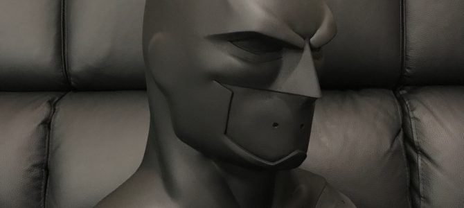 Finished master of our DCAU / Justice League War Batman cowl