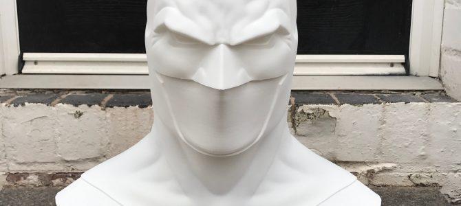 Print of our Rebirth Batman cowl sculpt (Jason Fabok inspired)