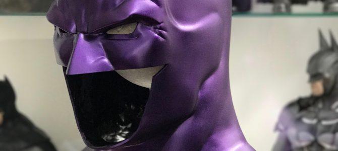 Metallic purple Batman Rebirth cowl