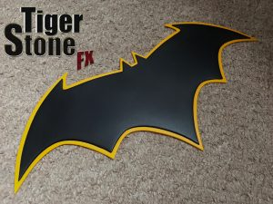 Batman Rebirth emblem (Jason Fabok inspired) for your cowl : cosplay costume _ by Tiger Stone FX