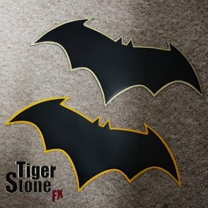 Batman Rebirth emblem (Jason Fabok inspired) for your cowl : cosplay costume - by Tiger Stone FX