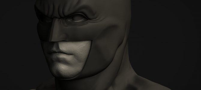 Justice League Batman cowl – finished sculpt