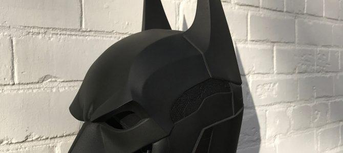 Finally finished our Batman Arkham Knight cowl :) (head piece)