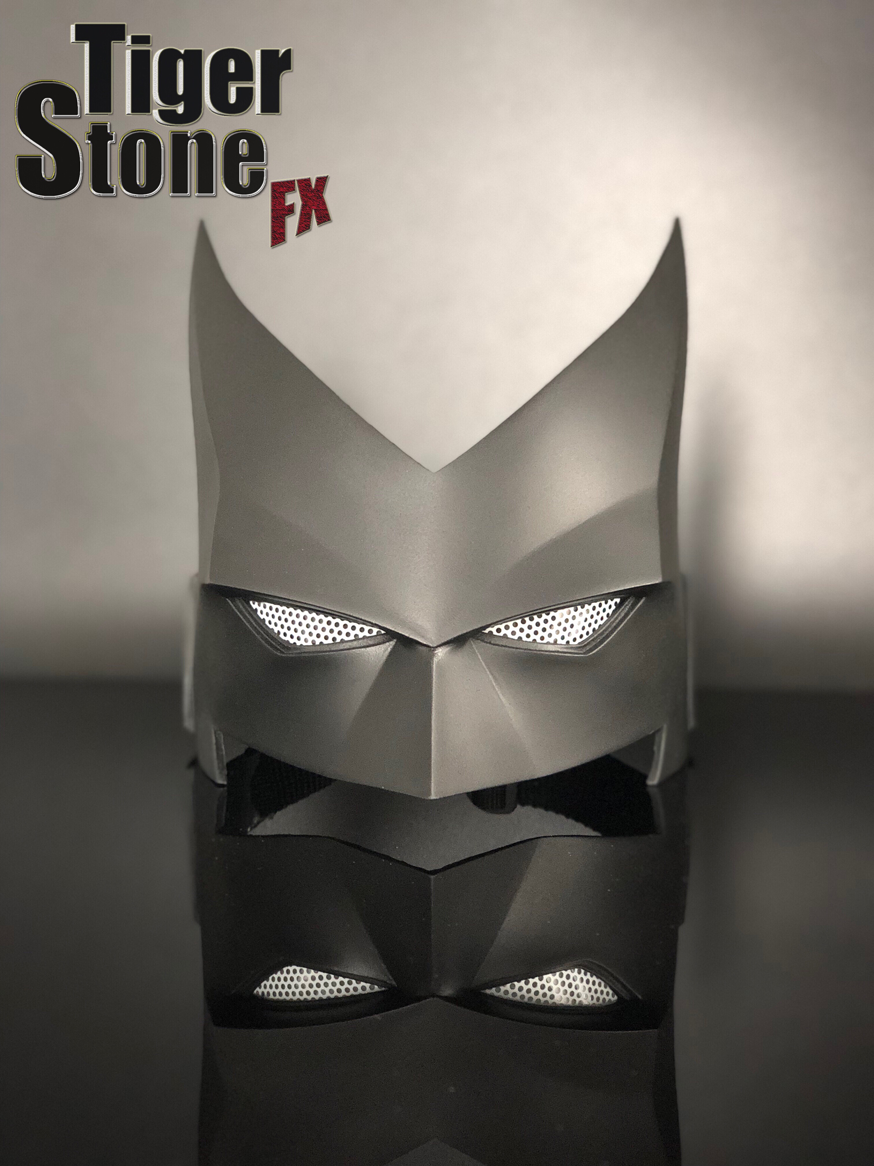 Batwoman mask (front) for your cosplay costume -- by Tiger Stone FX