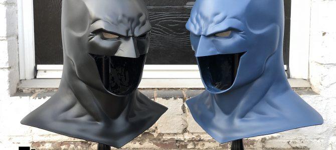 Batman Rebirth cowls in black & dark blue