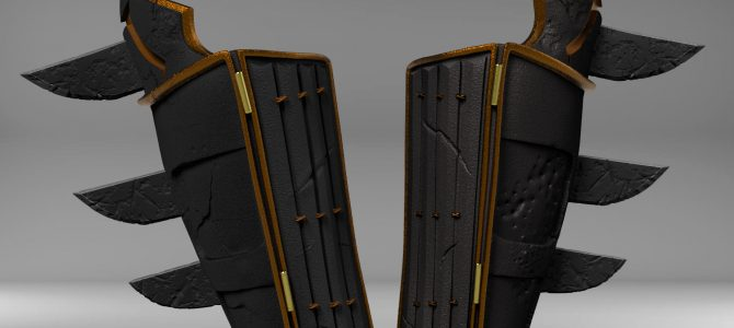 Finished sculpt of our Batman Ninja gauntlets