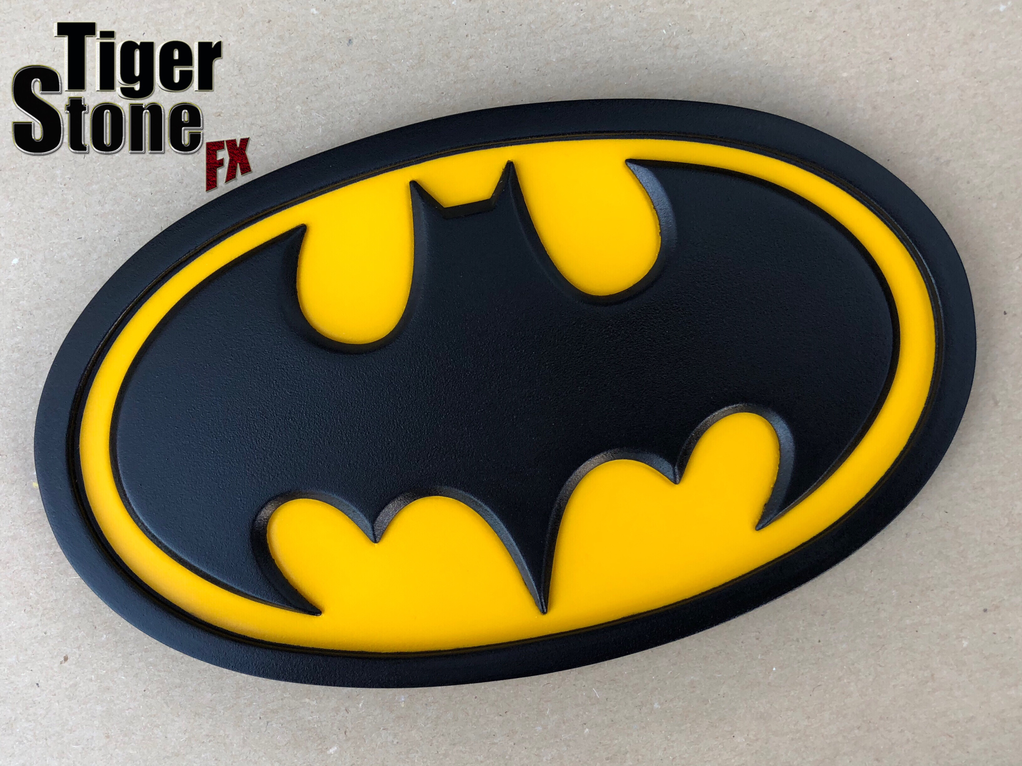 Batman classic oval emblem Batman The Animated Series chest emblem (blog photo) - by Tiger Stone FX