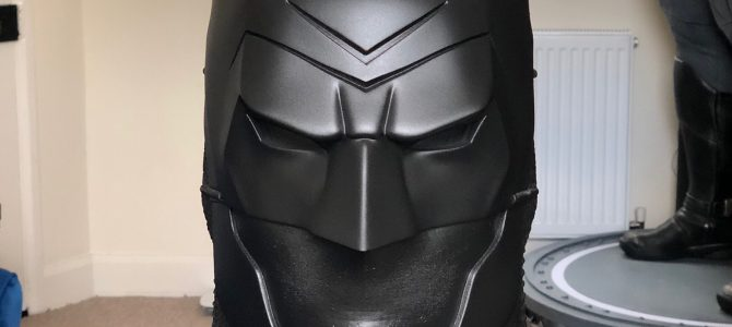Batman Ninja cowl – ready to mold (custom commission update)