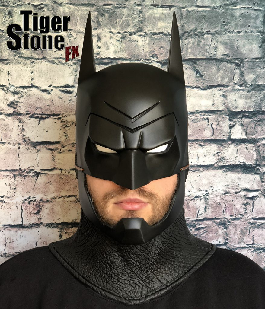 Batman Ninja cowl mask for your cosplay costume (front) Samurai - made by Tiger Stone FX