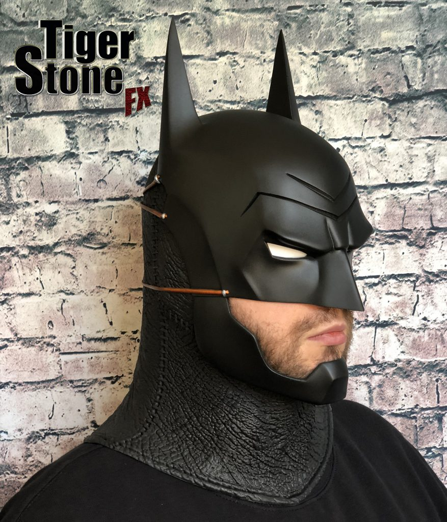 Batman Ninja cowl mask for your cosplay costume (front side) Samurai - made by Tiger Stone FX