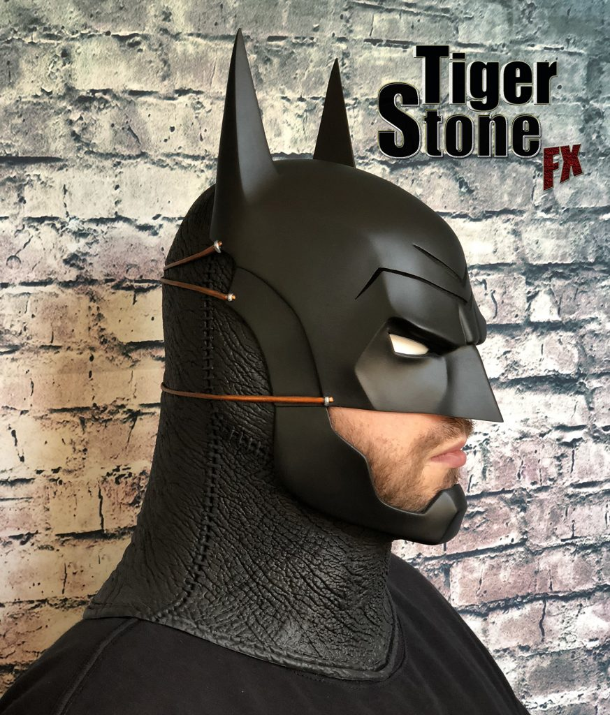 Batman Ninja cowl mask for your cosplay costume (side) Samurai - made by Tiger Stone FX