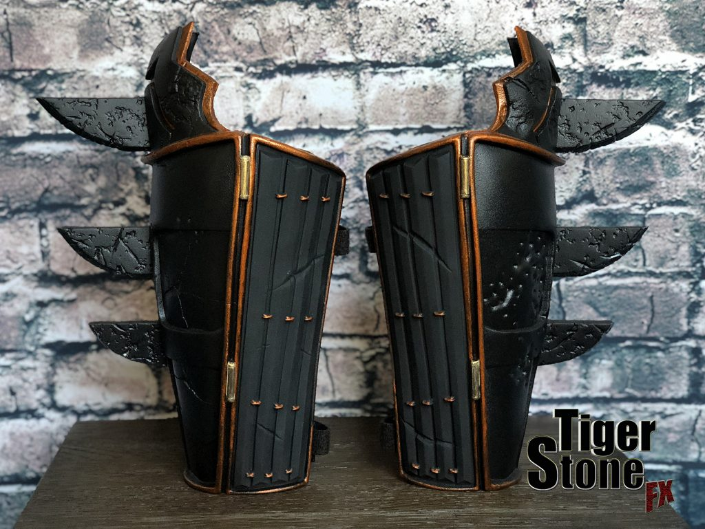 Batman Ninja gauntlets bracers for your costume (Samurai)- made by Tiger Stone FX
