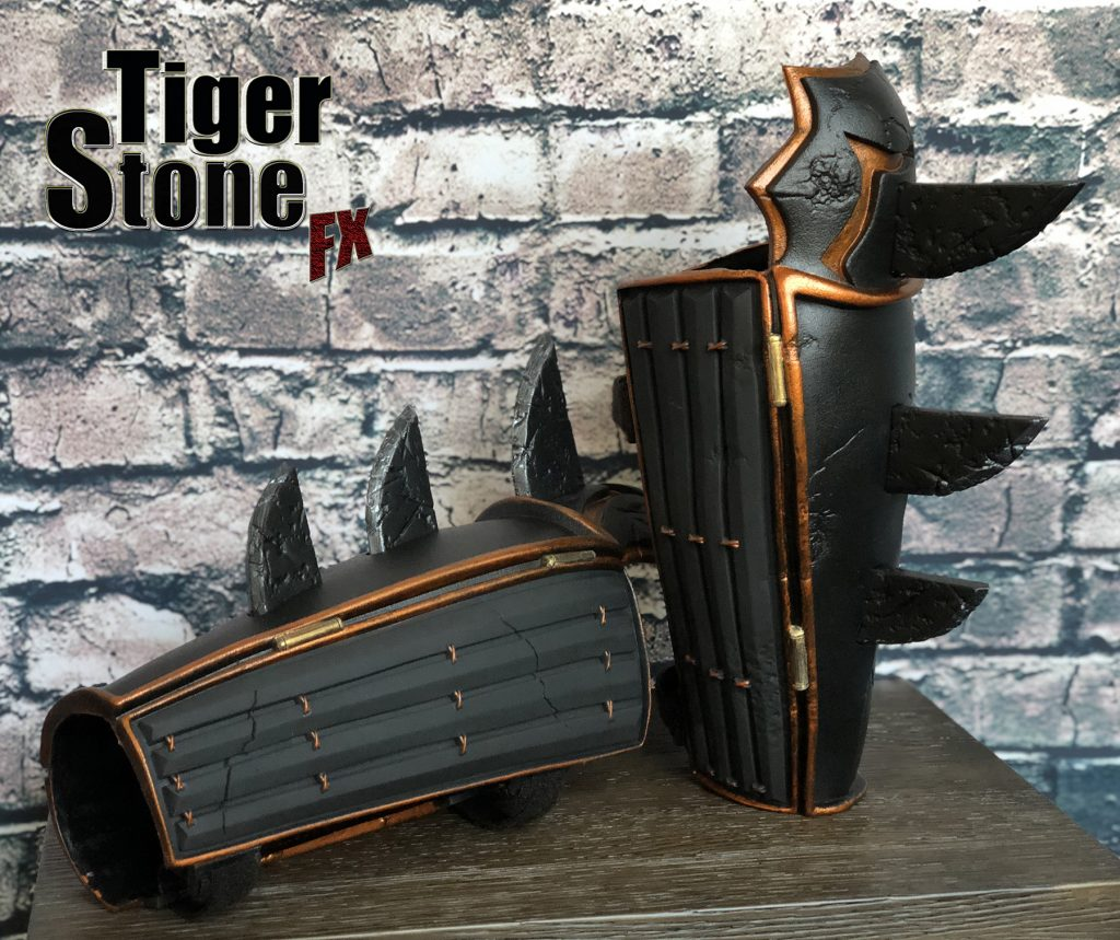 Batman Ninja gauntlets bracers for your costume (side) (Samurai) - made by Tiger Stone FX