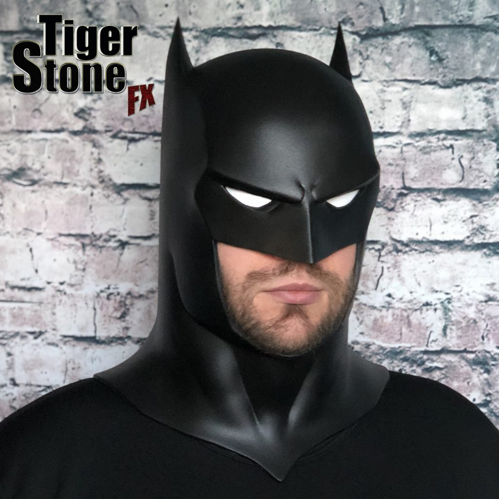 Capullo Batman cowl mask for your cosplay New 52 Rebirth Metal (left straight) Court of owls - made by Tiger Stone FX