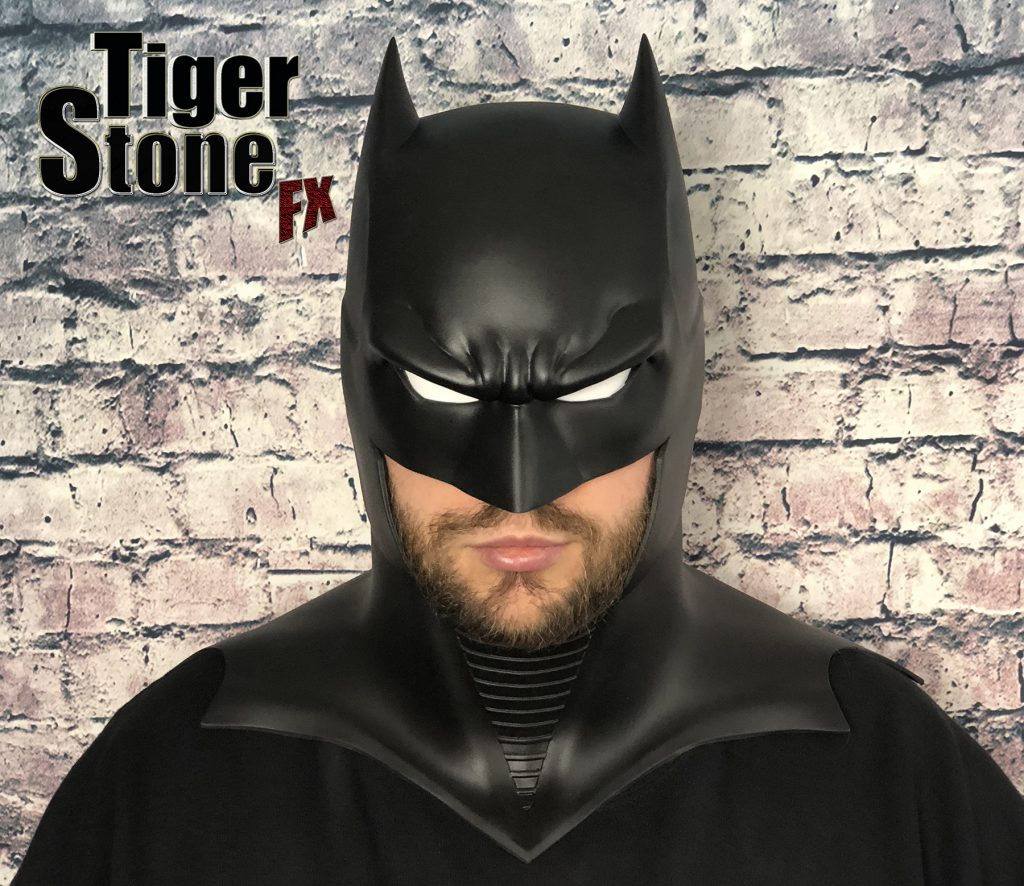 GD Batman cowl : mask (front with white eyes) -- original design (made) by Tiger Stone FX