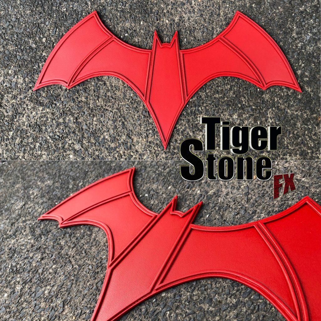 CW Batwoman chest emblem logo - handmade by Tiger Stone FX