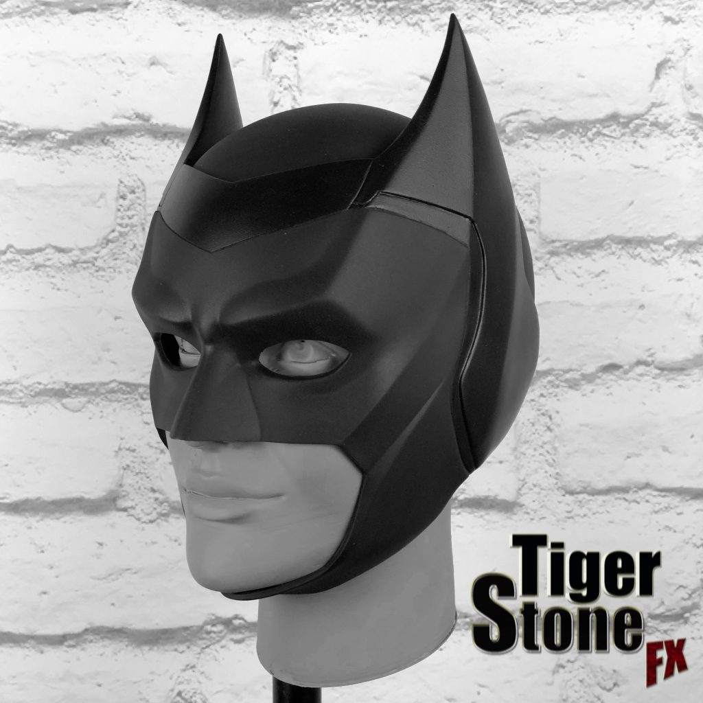CW Batwoman cowl mask - side (Ruby Rose Batwoman) - handmade by Tiger Stone FX